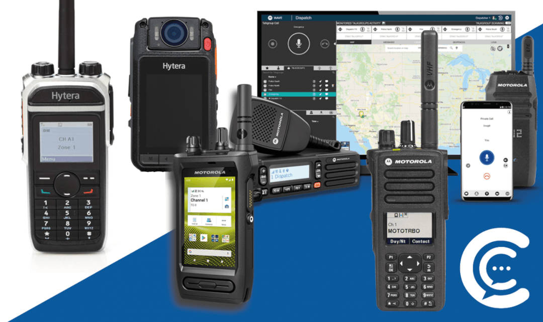 rugged smartphone and two-way radio
